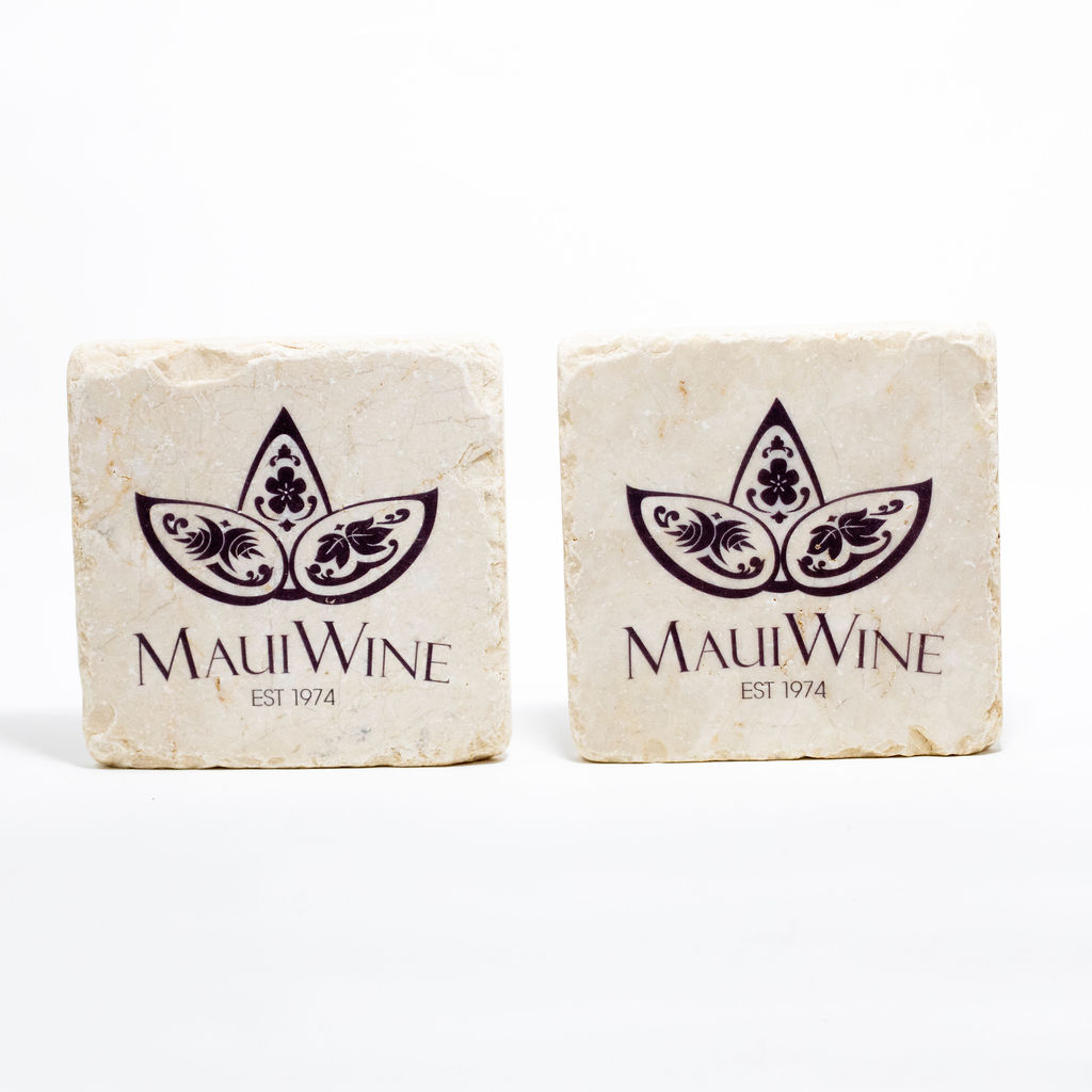 Maui Wine Stone Coaster Set THUMBNAIL