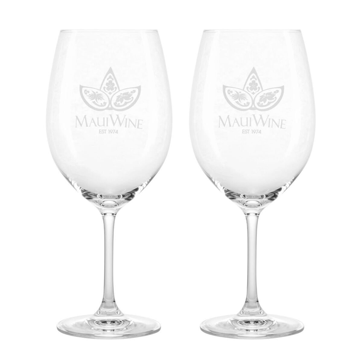 Set of 2- Logo Bordeaux Wine Glasses
