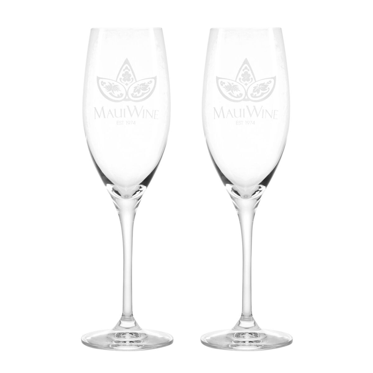 Set of 2- Logo Sparkling Flutes