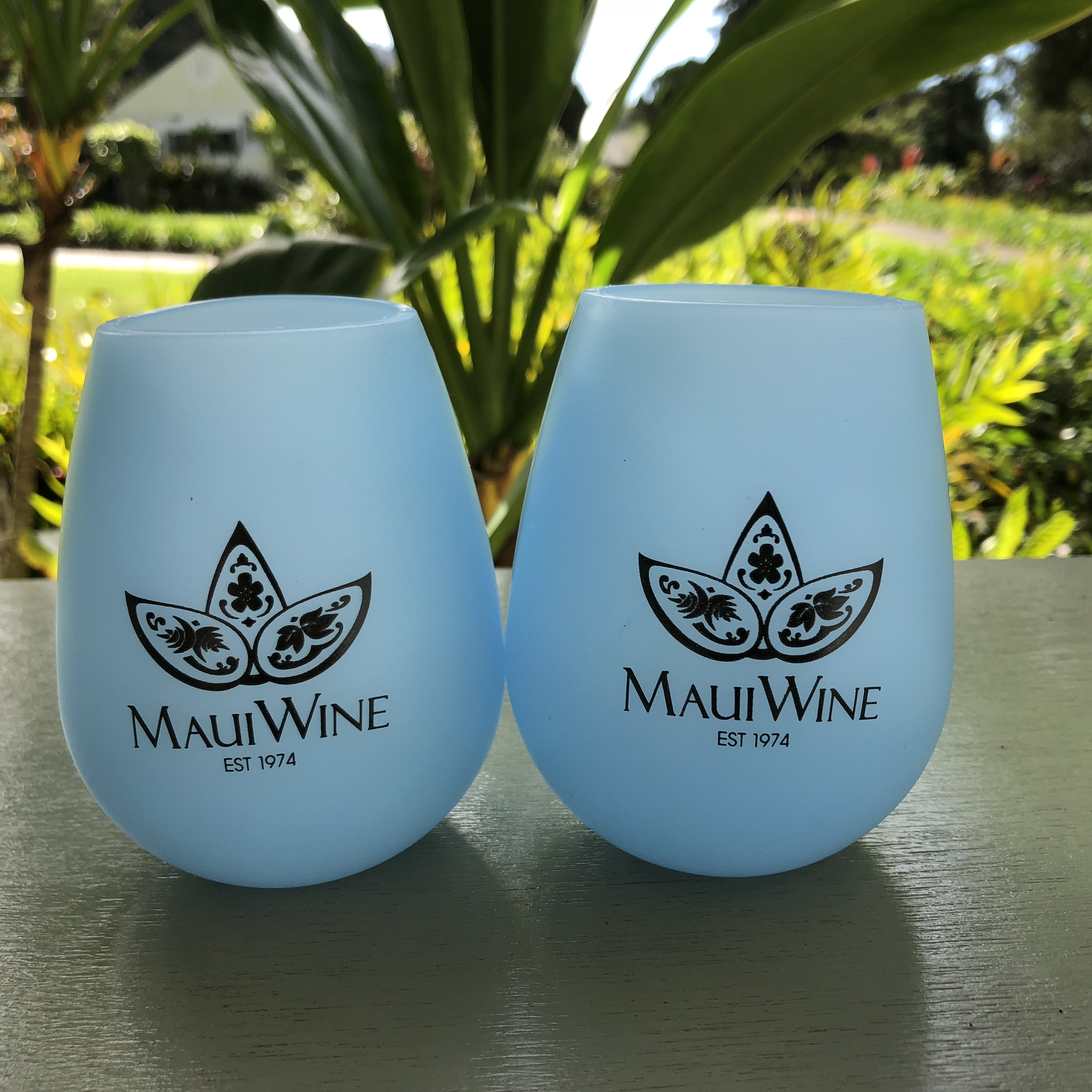 Logo Silicone Wine Glasses