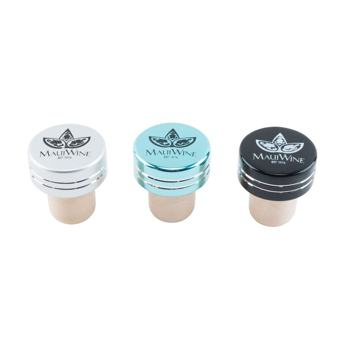 Logo Bottle Stoppers- 3 pack