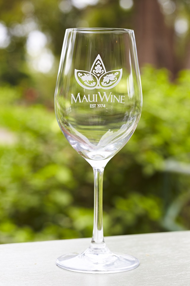 Set of 2- Logo White Wine Glasses