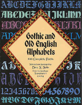 100 Gothic and Old English Alphabets Complete Fonts MAIN