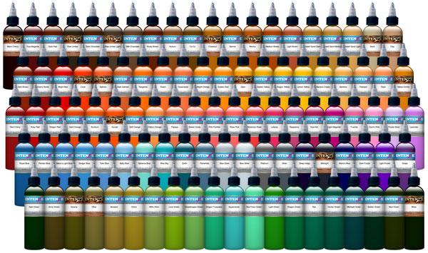 101 intenze color set for Intenze tattoo ink sets