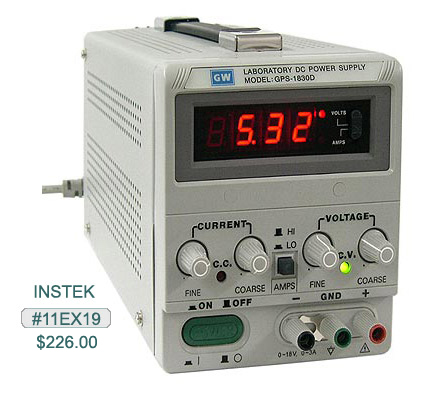11EX19, Instek Power Supply