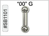 SB1101, 00 Gauge Barbells High Polish THUMBNAIL