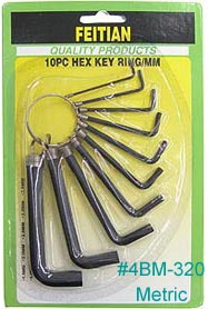 Metric Allen wrench set