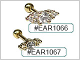 EAR1066 Marquise Effect Ear Studs THUMBNAIL