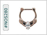 #NOS280 Rose Gold Plated Marquise Cut THUMBNAIL