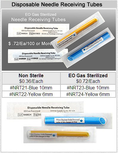 NRT21 Plastic Needle Receiving Tubes MAIN