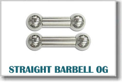 0 Gauge Body Piercing Barbells