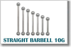 10 Gauge Body Piercing Barbells