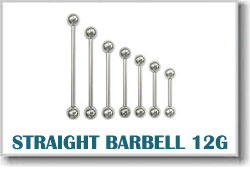 12 Gauge Body Piercing Barbells