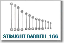 16 Gauge Body Piercing Barbells