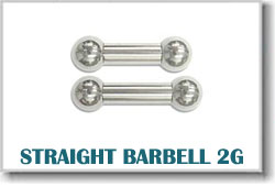 2 Gauge Body Piercing Barbells