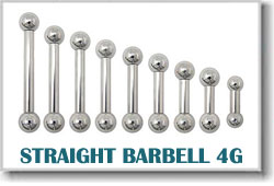 4 Gauge Body Piercing Barbells
