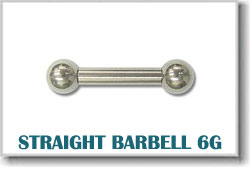 6 Gauge Body Piercing Barbells