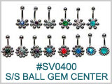 SV0400 Multi- S/S Ball Gem Center THUMBNAIL