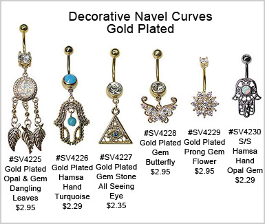 SV4225 Decorative Gold Plated Navel MAIN