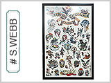 Spider Webb Tattoo Flash Poster