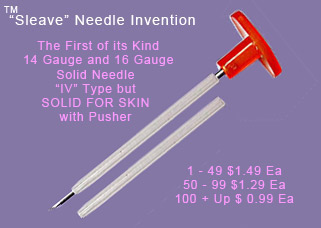 Solid Piercing Needles Sleeved MAIN