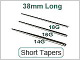 Tapers, Short 38mm Micro 316L SS_THUMBNAIL