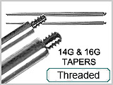Tapers, Externally Threaded 14G & 16G_THUMBNAIL