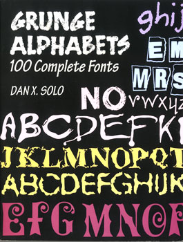 100 Grunge Alphabets Complete Fonts MAIN