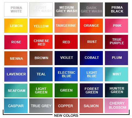 Alla prima inks for Tattoo ink color chart