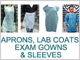 Apron, Lab Coat, Exam Gown, Sleeve