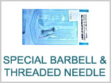 Special Barbells with Threaded Needle