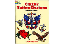 Classic Tattoo Designs Coloring Book THUMBNAIL