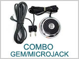 11EX328 Combo Gem Foot Switch Micro Jack Clip Cord