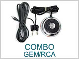 11EX335 Combo Gem Foot Switch RCA Jack Clip Cord