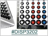 DISP3202, Ear Display, Black Acrylic Plugs THUMBNAIL