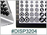 DISP3204, Ear Plug Display, Black Acrylic THUMBNAIL