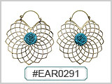 EAR0291 Blue Rose THUMBNAIL