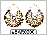 EAR0300 Hypnotic Flower Ear Wire THUMBNAIL