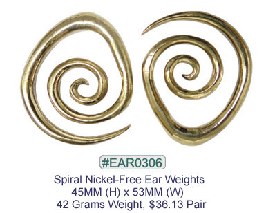 #EAR0306 Nickel-free Brass Earring Weights MAIN