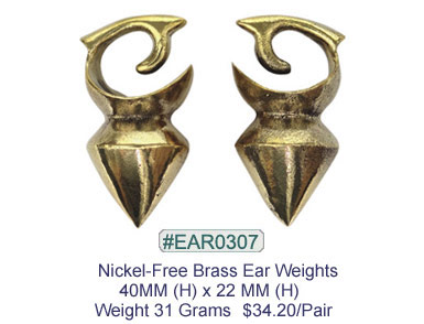 #EAR0307 Nickel-free Brass Earring Weights MAIN
