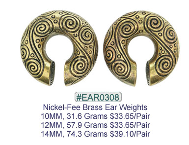 #EAR0308 Nickel-free Brass Earring Weights MAIN