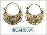 #EAR0331 Fashion Brass Earring