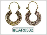 #EAR0332 Fashion Brass Earring