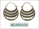 #EAR0339 Fashion Brass Earring