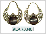 #EAR0340 Fashion Brass Earring