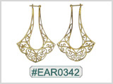 #EAR0342 Fashion Brass Earring
