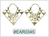 #EAR0345 Fashion Brass Earring