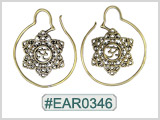 #EAR0346 Fashion Brass Earring