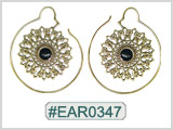 #EAR0347 Fashion Brass Earring
