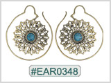 #EAR0348 Fashion Brass Earring